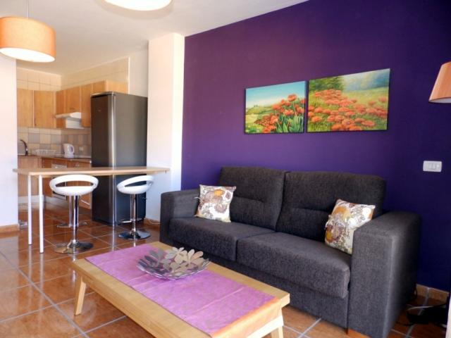 living and dining room - Apartment with big terace, Golf del Sur, Tenerife