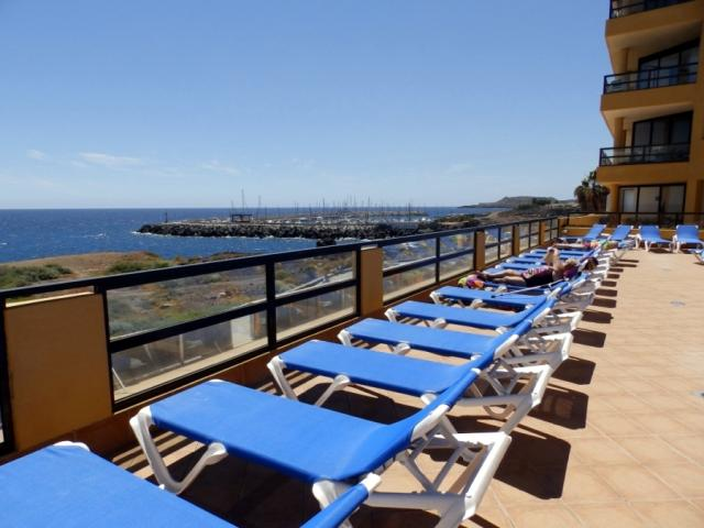 view from swimming pool - Apartment with big terace, Golf del Sur, Tenerife